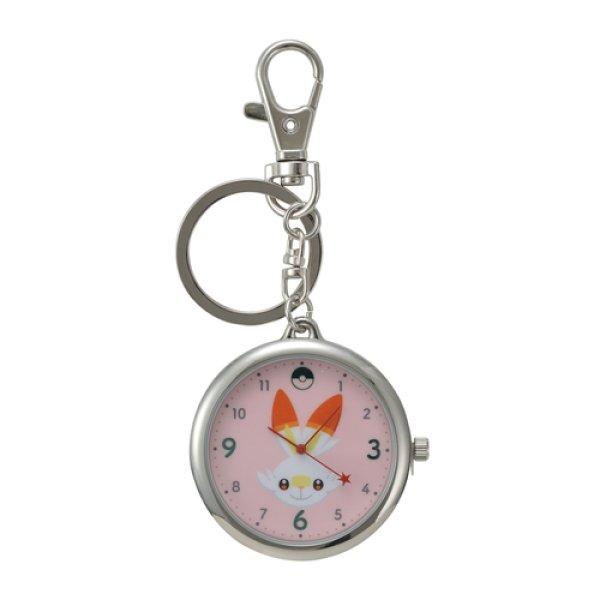 Photo1: Pokemon Center 2019 Key Chain Watch Scorbunny (1)