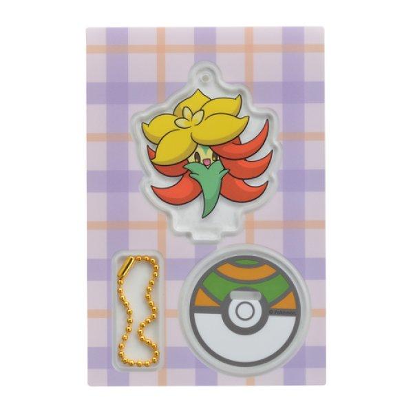 Photo1: Pokemon Center 2019 Acrylic Stand Key Chain Gossifleur (1)
