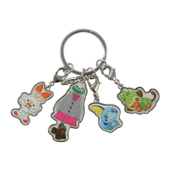 Photo1: Pokemon Center 2019 Quadruple Key Chain GIRL ver. (1)
