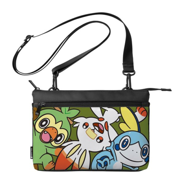 Photo1: Pokemon Center 2019 Nintendo Switch Lite Sacoche Grookey Scorbunny Sobble Pouch Bag (1)