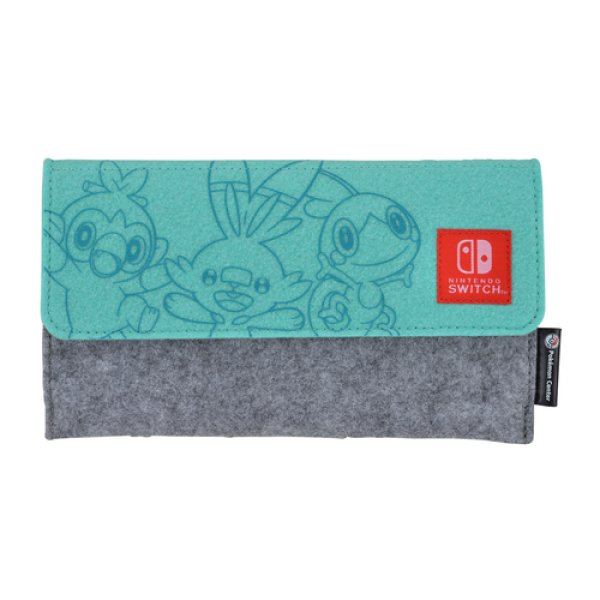 Photo1: Pokemon Center 2019 Nintendo Switch Lite Felt pouch Grookey Scorbunny Sobble (1)