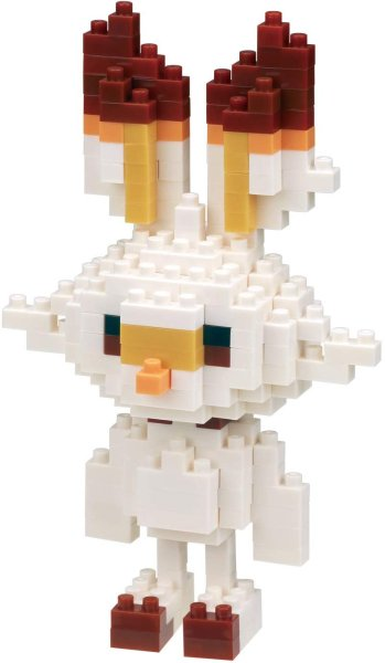 Photo1: Pokemon KAWADA nanoblock NBPM_060 Scorbunny micro-sized building block (1)