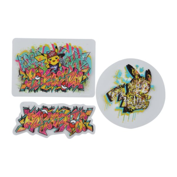 Photo1: Pokemon Center Original SHIBUYA Graffiti Art Sticker Sheet Pikachu (1)
