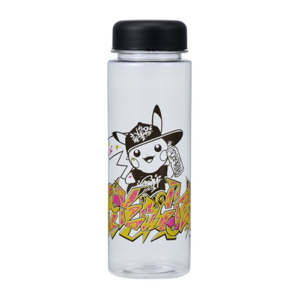 Photo1: Pokemon Center 2019 SHIBUYA Graffiti Art Pikachu Clear Bottle Cup 500ml (1)