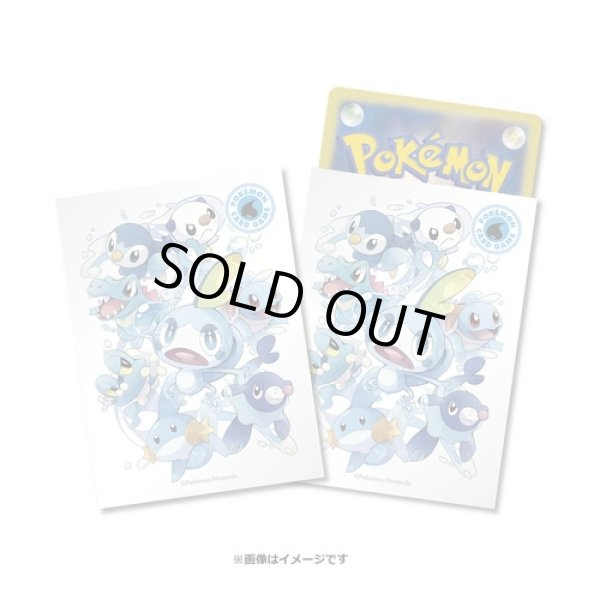 Photo1: Pokemon Center Original Center Card Game Sleeve Type Fighters Water 64 sleeves (1)