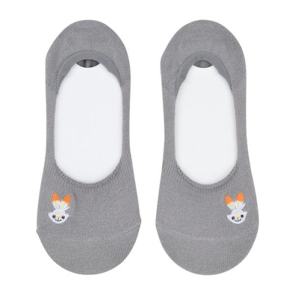 Photo1: Pokemon Center 2019 Socks for Women 23 - 25 cm 1 Pair Cover socks Scorbunny Gray (1)