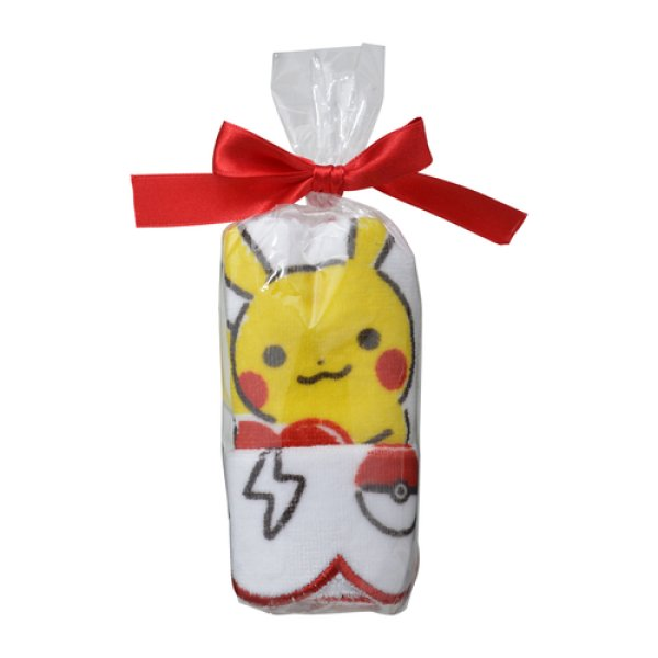 Photo1: Pokemon Center 2019 Poka Poka Pikachu Hand towel Handkerchief A (1)