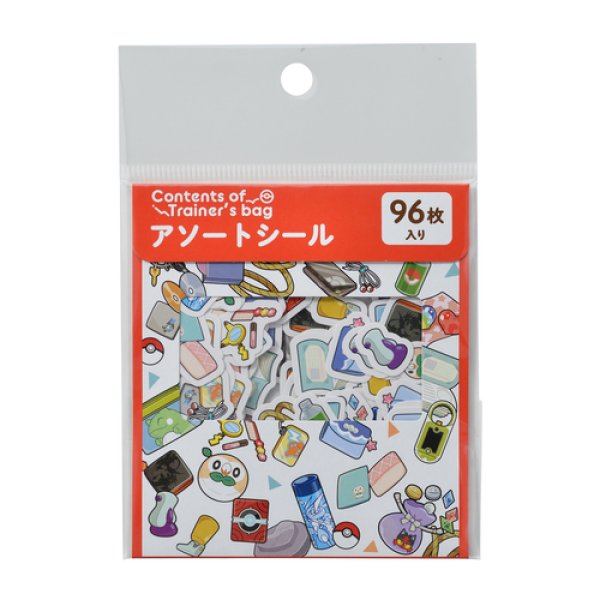Photo1: Pokemon Center 2019 Contents of Trainer's bag Assorted Mini Sticker set RD ver. (1)