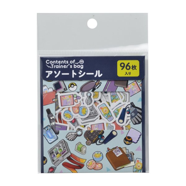 Photo1: Pokemon Center 2019 Contents of Trainer's bag Assorted Mini Sticker set NV ver. (1)
