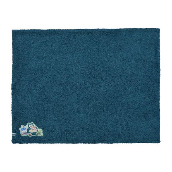 Photo1: Pokemon Center 2019 Snorlax's yawn Mini Blanket Lap robe (1)