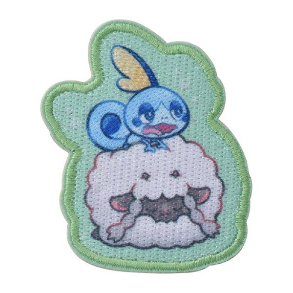 Photo1: Pokemon Center 2019 Snorlax's yawn Sticker Wooloo Sobble ver. (1)