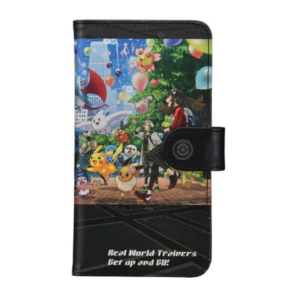 Photo1: Pokemon Center 2019 Pokemon GO campaign Multi Smartphone Cover 150 3rd Anniversary Flip Case (1)