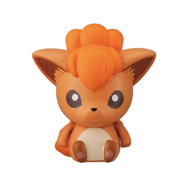 Photo1: Pokemon 2020 BANDAI Colle chara ! vol.2 #3 Vulpix Mini Figure with name pedestal (1)