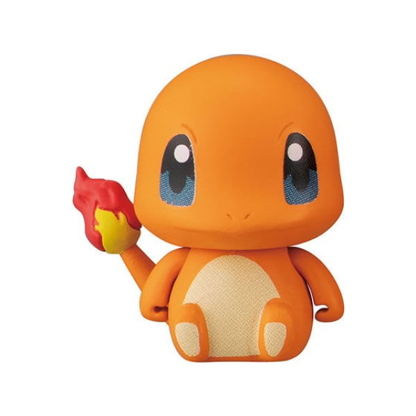 Photo1: Pokemon 2020 BANDAI Colle chara ! vol.2 #2 Charmander Mini Figure with name pedestal (1)