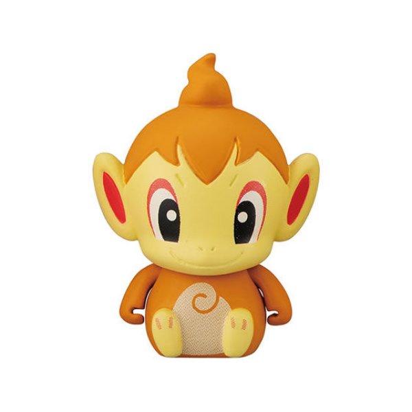 Photo1: Pokemon 2020 BANDAI Colle chara ! vol.2 #6 Chimchar Mini Figure with name pedestal (1)