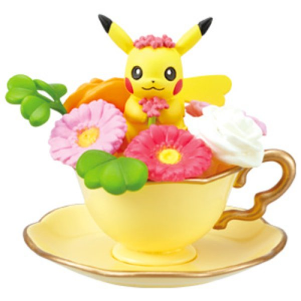 Photo1: Pokemon 2019 Floral Cup Collection 2 #1 Pikachu Mini Figure (1)