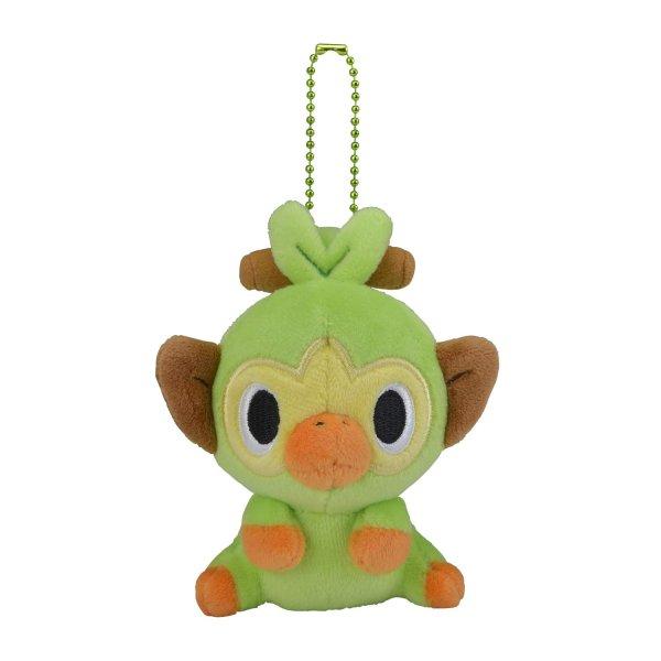 Photo1: Pokemon Center 2020 POKEMON DOLLS Plush Mascot Key Chain Grookey (1)
