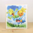 Photo1: Pokemon 2019 BANDAI Shikishi Art picture 3 No.1 Treecko & Torchic & Mudkip (1)
