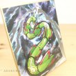 Photo2: Pokemon 2019 BANDAI Shikishi Art picture 3 No.16 Rayquaza Silver tooling ver. (2)
