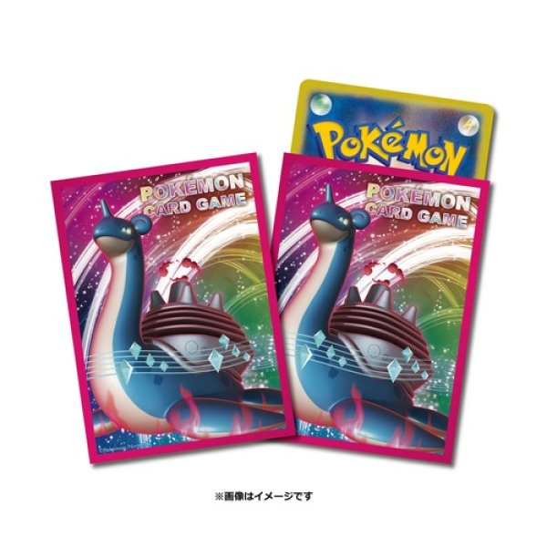 Photo1: Pokemon Card Game Sleeve Lapras GIGANTAMAX 64 sleeves (1)