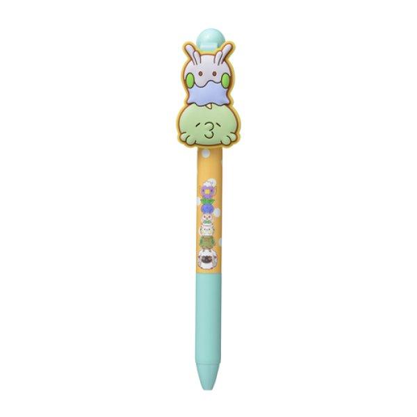 Photo1: Pokemon Center 2020 MOTCHIRI MANMARU Ballpoint pen Gulpin & Goomy (1)
