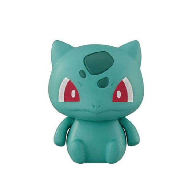 Photo1: Pokemon 2020 BANDAI Colle chara ! vol.3 #2 Bulbasaur Mini Figure with name pedestal (1)