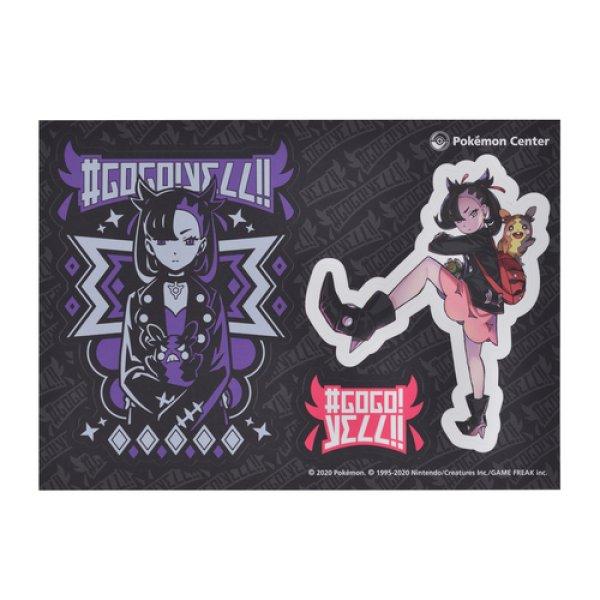 Photo1: Pokemon Center 2020 #GOGO!YELL!! Sticker Sheet Marnie & Morpeko (1)