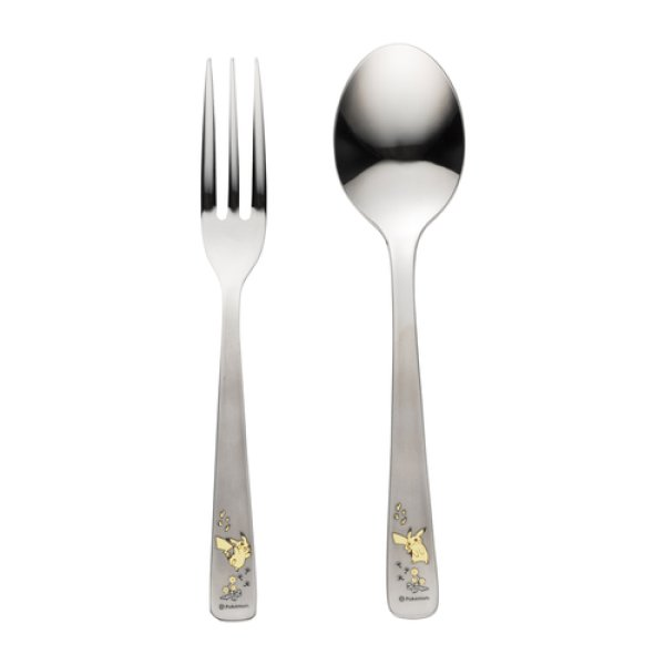 Photo1: Pokemon Center 2020 Flowers in full bloom Pikachu Spoon and Fork set (1)