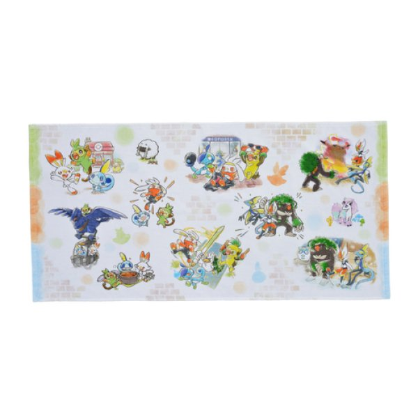 Photo1: Pokemon Center 2020 Pokemon Galar Tabi Mini Bath towel (1)