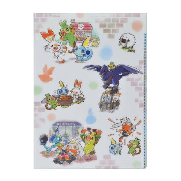 Photo1: Pokemon Center 2020 Pokemon Galar Tabi A4 Size Clear File double pockets (1)
