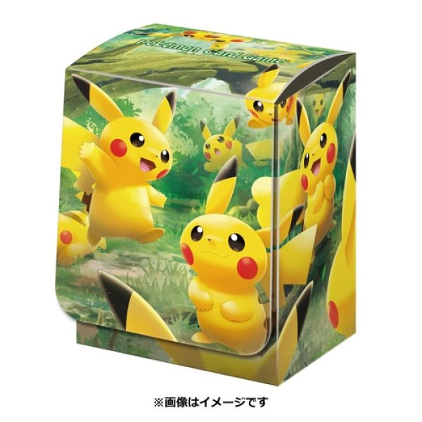 Photo1: Pokemon Center Original Card Game Flip deck case Pikachu Forest (1)
