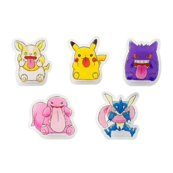Photo1: Pokemon Center 2020 BEROBE ~! Acrylic clip 5 pcs (1)