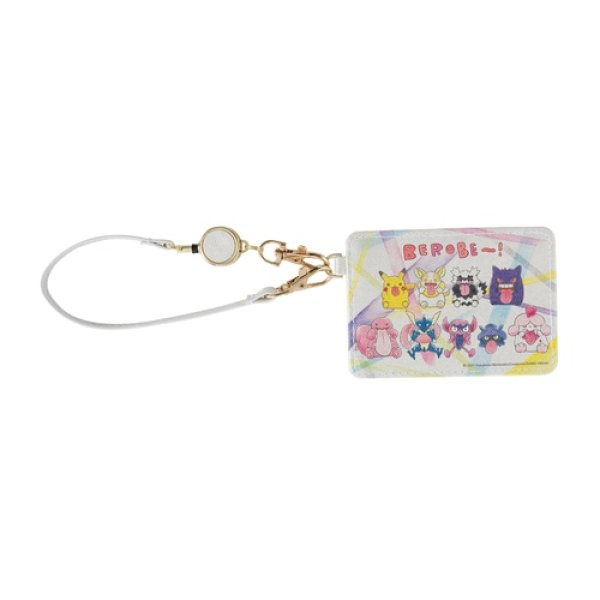 Photo1: Pokemon Center 2020 BEROBE ~! Card pass case with reel (1)