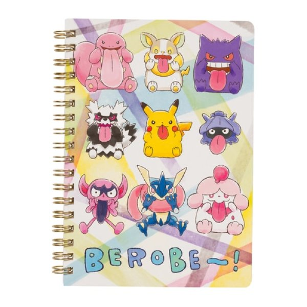 Photo1: Pokemon Center 2020 BEROBE ~! B6 Size Spiral Notebook No lines Pikachu (1)