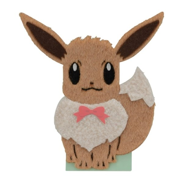 Photo1: Pokemon Center 2021 Greeting card Mofumofu Eevee Message card (1)
