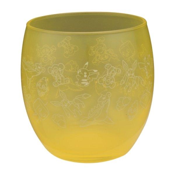 Photo1: Pokemon Center 2020 GALAR Summer Glass cup Yellow (1)
