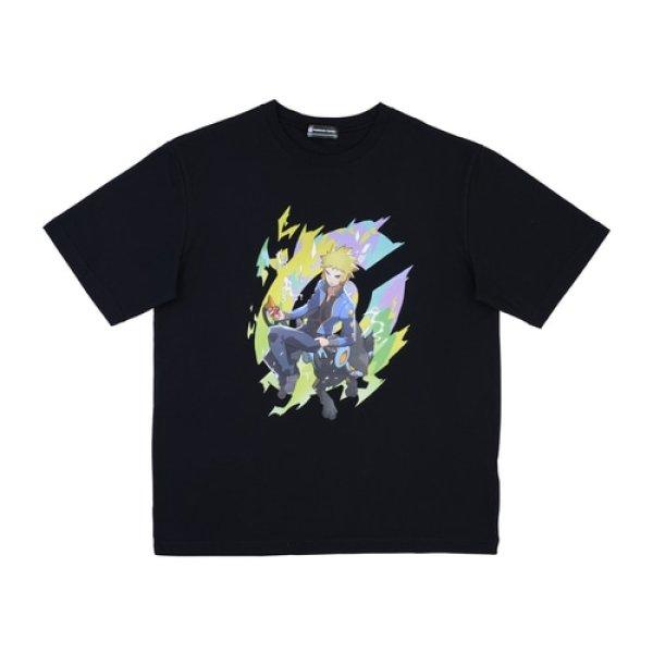 Photo1: Pokemon Center 2020 Pokemon Trainers T-shirt collection Volkner Luxray (1)