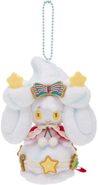 Photo1: Pokemon Center 2020 Pokemon Christmas Wonderland Alcremie Plush Mascot Key Chain (1)