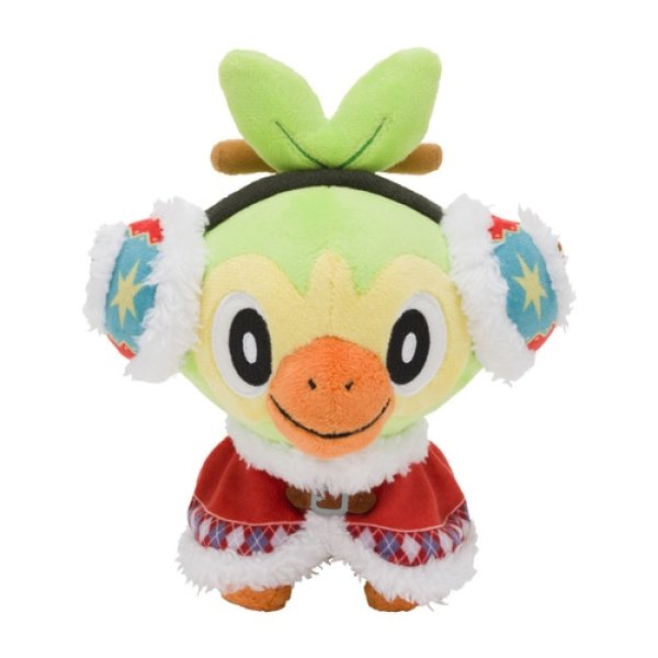 Photo1: Pokemon Center 2020 Pokemon Christmas Wonderland Grookey Plush doll (1)