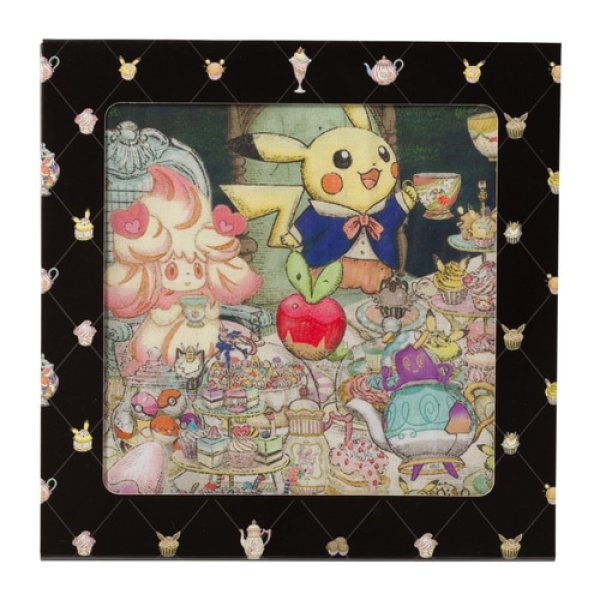 Photo1: Pokemon Center 2021 Pokemon Mysterious Tea Party Boxed Handkerchief (1)