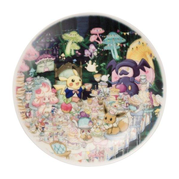 Photo1: Pokemon Center 2021 Pokemon Mysterious Tea Party Plate (1)