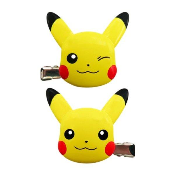 Photo1: Pokemon 2020 Hair Clip 2 pcs Pikachu ver. Hair Accessory (1)