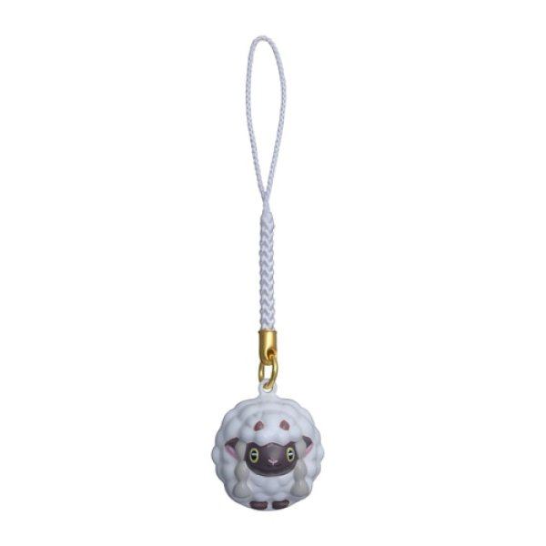 Photo1: Pokemon Center 2021 Bell Charm Strap Wooloo (1)