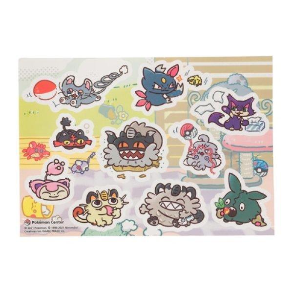 Photo1: Pokemon Center 2021 Galarian Meowth Day campaign Peelable Sticker Sheet (1)