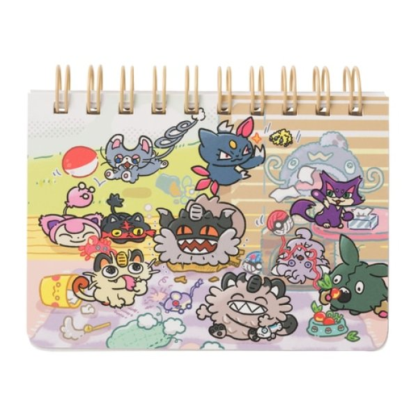 Photo1: Pokemon Center 2021 Galarian Meowth Day campaign Ring Memo pad (1)