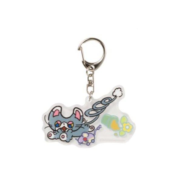 Photo1: Pokemon Center 2021 Galarian Meowth Day Acrylic Charm Key chain #6 Glameow (1)