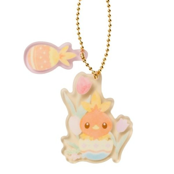 Photo1: Pokemon Center 2021 Happy Easter Basket Key chain with Egg-shaped case Torchic ver. (1)