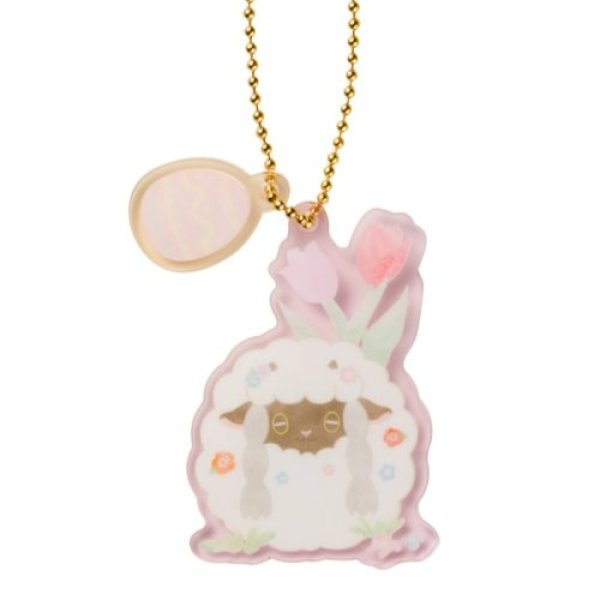 Photo1: Pokemon Center 2021 Happy Easter Basket Key chain with Egg-shaped case Wooloo ver. (1)