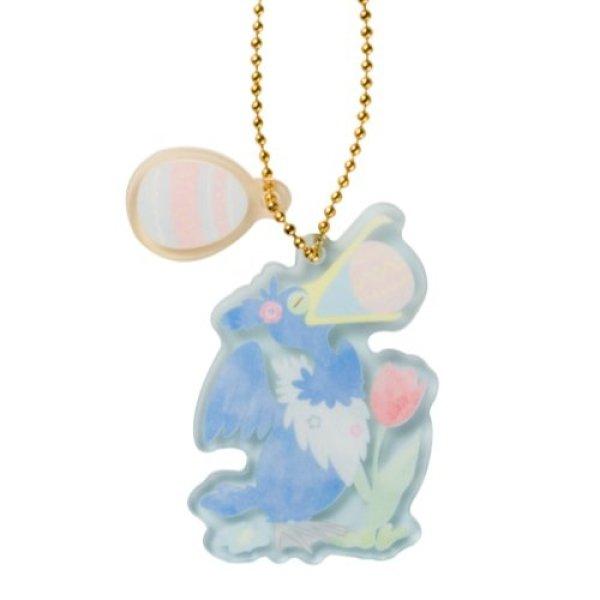 Photo1: Pokemon Center 2021 Happy Easter Basket Key chain with Egg-shaped case Cramorant ver. (1)