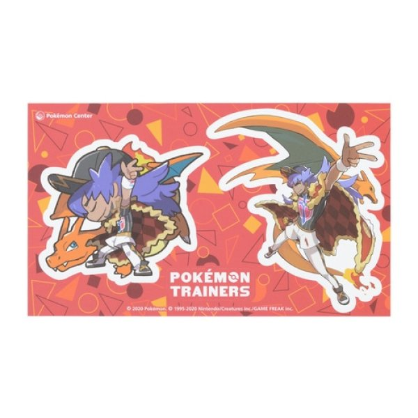 Photo1: Pokemon Center 2020 Pokemon Trainers Sticker Sheet Leon Charizard (1)